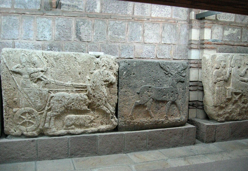 One of several Neo-Hittite war chariot and hunting reliefs