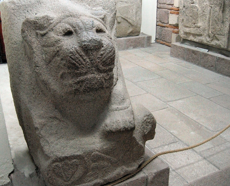 Relief of lion head and paws, from Alacahoyuk