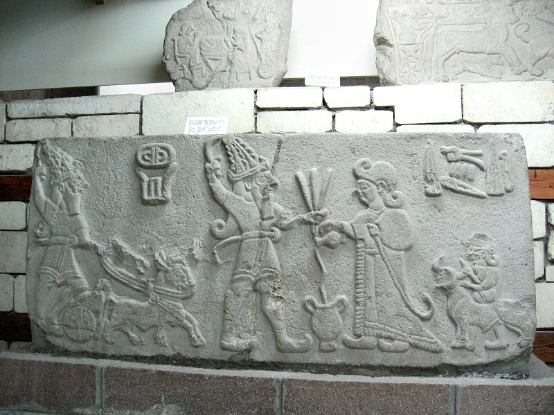 Hittite relief of kings and gods<br>with interesting shoes