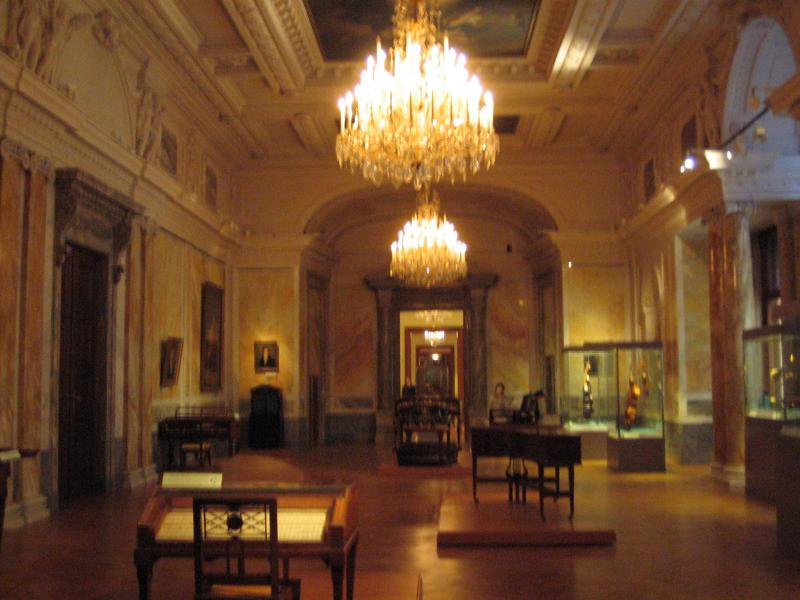 Beethoven Room with Mozarts Piano in the middle