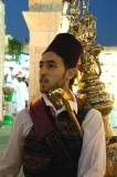 Tea seller at the Syrian pavilion