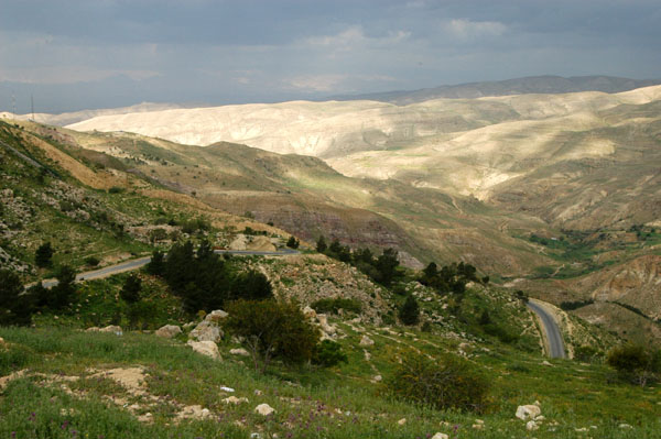 Driving from Amman to the Dead Sea
