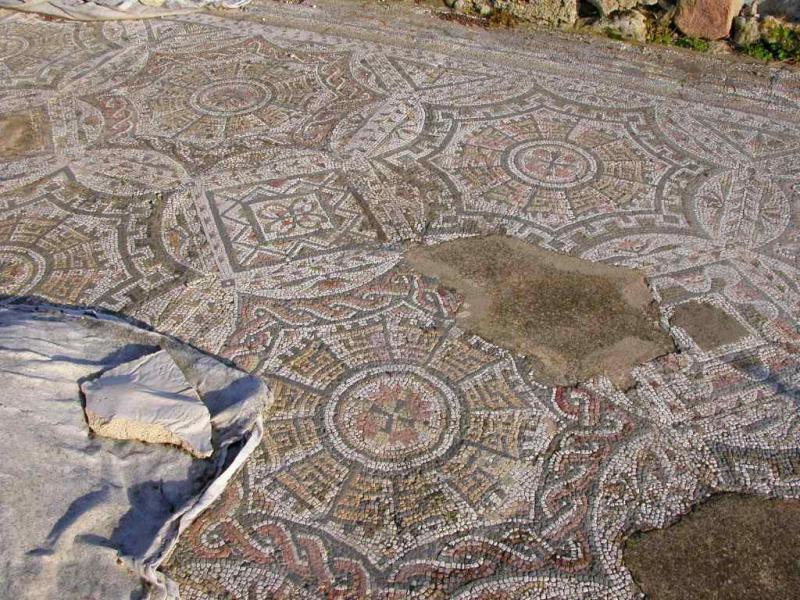 Mosaic, four-column villa