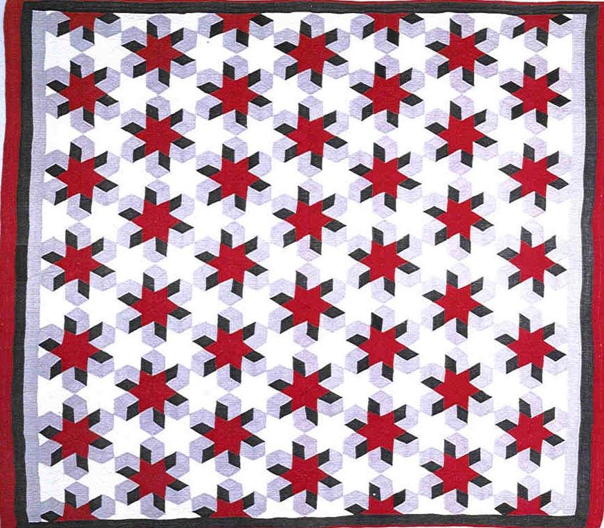 072:Tumbling Blocks variation-Midwest c.1920  74x47
