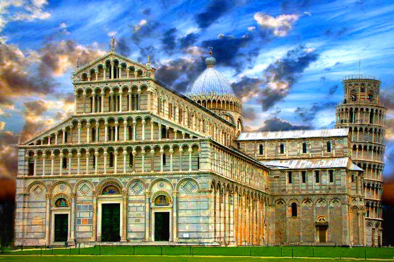 Pisa, - Duomo with Falling Tower