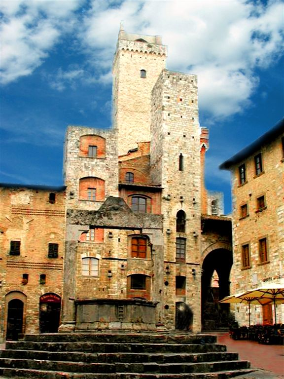 St. Gimignano- Central Square with Towers