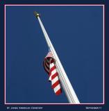 Flag at half mast, on September 11...