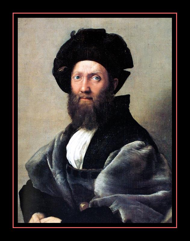 Portrait de Baldassar Castiglione ( 1514) par RAFAËL