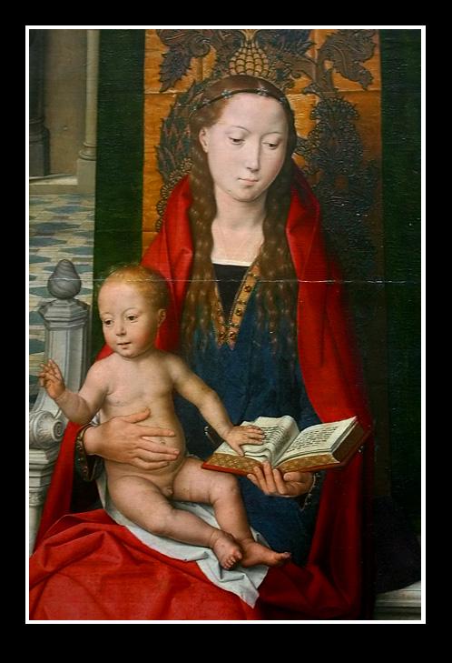 La Vierge et l Enfant (1435) par Hans MEMLING..Détail
