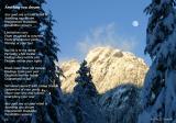 Poem over Winter Mountain Scene