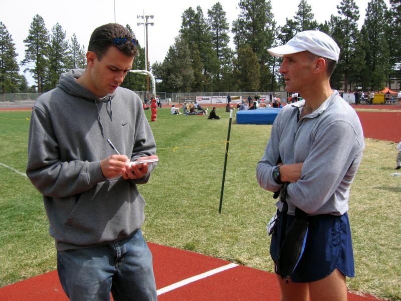 John Ticer gets interviewed