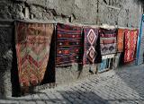 Makeshift carpet dealer