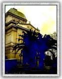 Palms in Blue