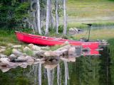 Canoe on Mirror Lake