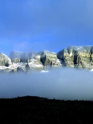 Foggy Glacier Morning
