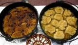 Goose Berry and Peach Cobblers