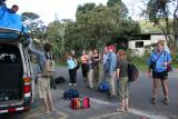 bags to top of minibus and leave Boquete