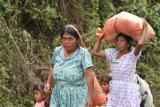 local women carrying goods