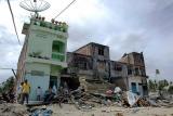 Island of Sumatra, Indonesia tsunami damge