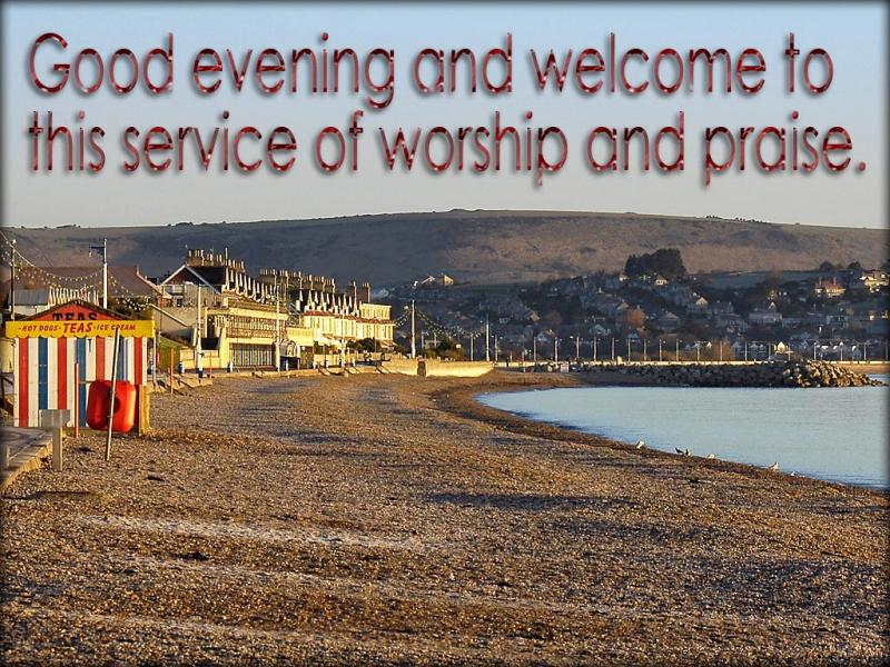 Evening welcome slide from the Weymouth series