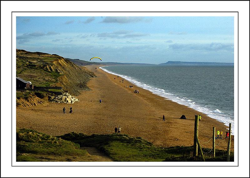 Hang-glider, Hive Beach, Dorset