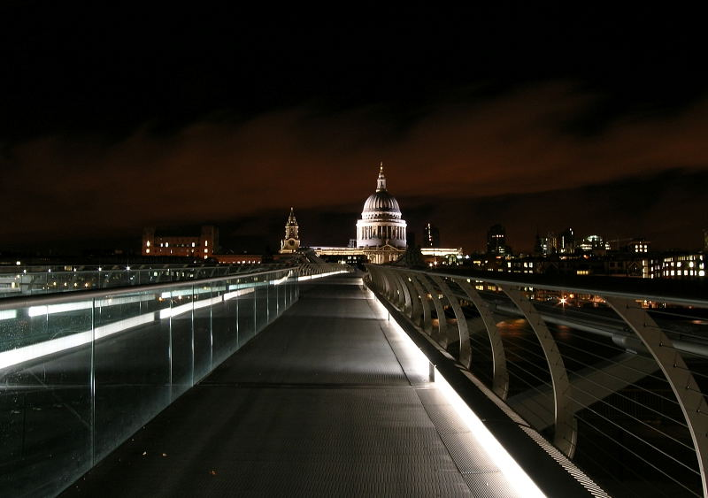 London St. Pauls from Millennium Bridge