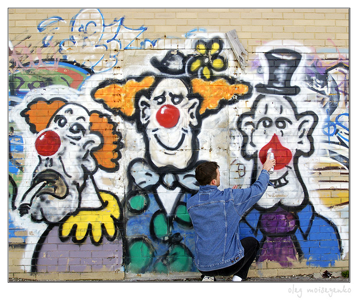 All about clowns /at making us laugh/