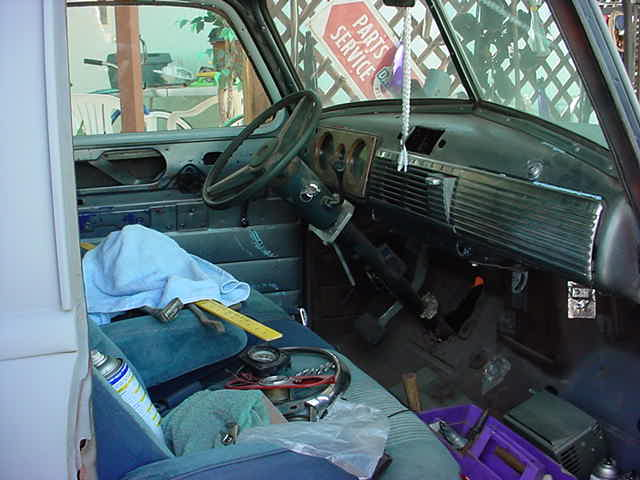 Gary Waters new <br>1948 Chevy interior