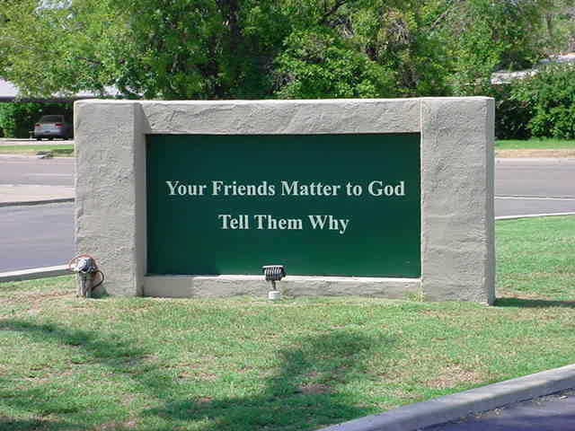 Friends Matter to God<br> Tell Them Why