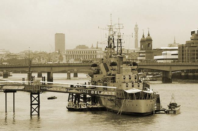 HMS Belfast & London skyline