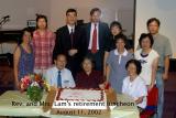 Pastor Lam's retirement