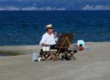 Painter by the Sea (Lake)