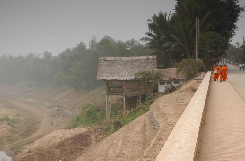Base of Phousi on the Nam Khanh side, Luang Prabang, Laos