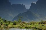 Water pond on the mountain, Rte. 13, Laos