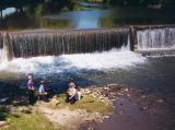 Amish Kids Fishing