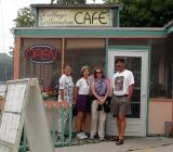Group photo in front of the Cottage Garden Cafe, Pentwater, Michigan
