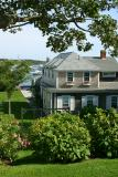 One of the many incredible homes lining the harbor at Edgartown.