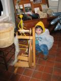 Joncarlo with Spinning wheel