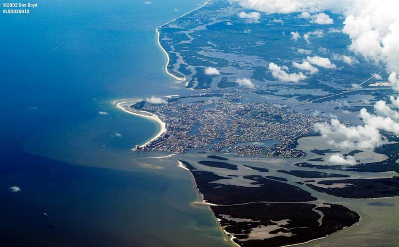 Coastline of Southwest Florida along the Gulf of Mexico aerial photo
