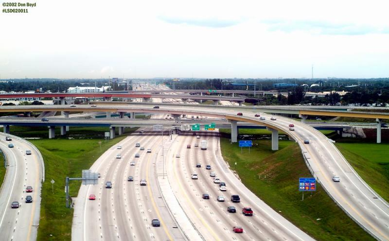 I-95 and I-595 interchange at Ft. Lauderdale, FL