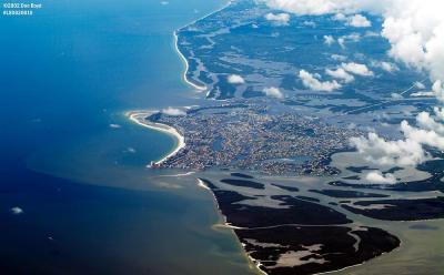 Coastline of Southwest Florida along the Gulf of Mexico aerial photo
