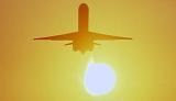 DC9/MD80 takeoff sunset aviation stock photo #SS0106