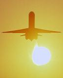DC9/MD80 takeoff sunset aviation stock photo #SS0106p