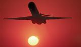 DC9/MD80 takeoff sunset aviation stock photo #SS9917L