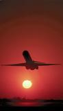 DC9/MD80 takeoff sunset aviation stock photo #SS9917p