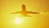 L1011 takeoff sunset aviation stock photo #SS0110