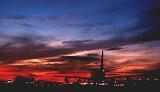 B747 takeoff sunset aviation stock photo #SS9501