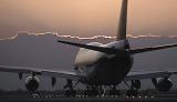 B747 takeoff sunset aviation stock photo #SS9704