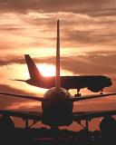 Sunset Skies and multiple aircraft Stock Photos