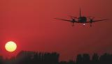 SF-340B landing sunset stock photo #SS9928
